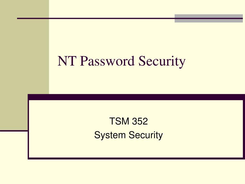 nt password security l.