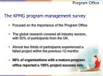 the kpmg program management survey