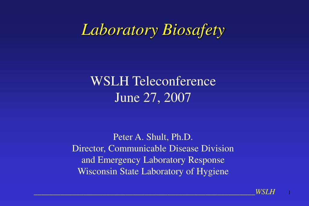 laboratory biosafety l.