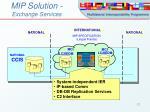 mip solution exchange services