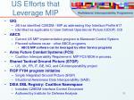 us efforts that leverage mip