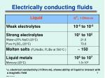 electrically conducting fluids