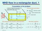 mhd flow in a rectangular duct 1