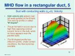 mhd flow in a rectangular duct 5