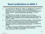 recent publications on mhd 4