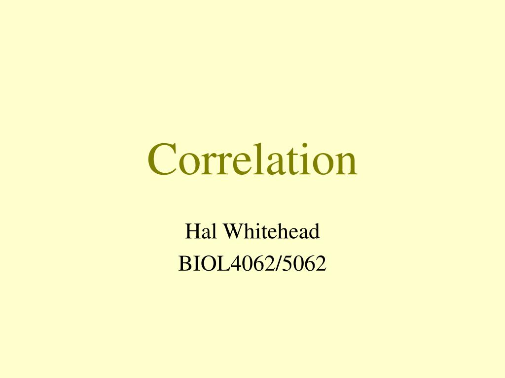 correlation l.