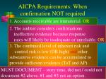 aicpa requirements when confirmation not required