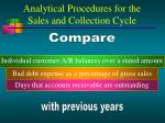 analytical procedures for the sales and collection cycle12