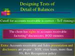 designing tests of detail of balances20