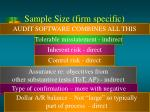 sample size firm specific