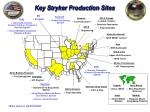 key stryker production sites