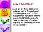 poetry in the academy