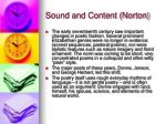 sound and content norton