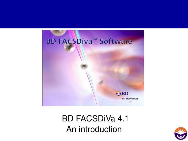 bd facsdiva 4 1 n.