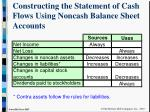 constructing the statement of cash flows using noncash balance sheet accounts5