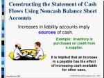 constructing the statement of cash flows using noncash balance sheet accounts7