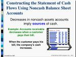 constructing the statement of cash flows using noncash balance sheet accounts8