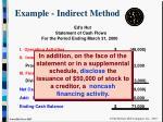example indirect method34