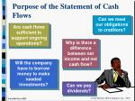 purpose of the statement of cash flows