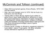 mccormick and tollison continued