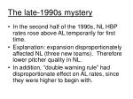 the late 1990s mystery