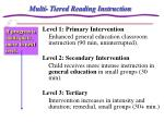 multi tiered reading instruction