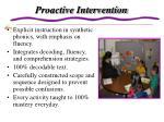 proactive intervention