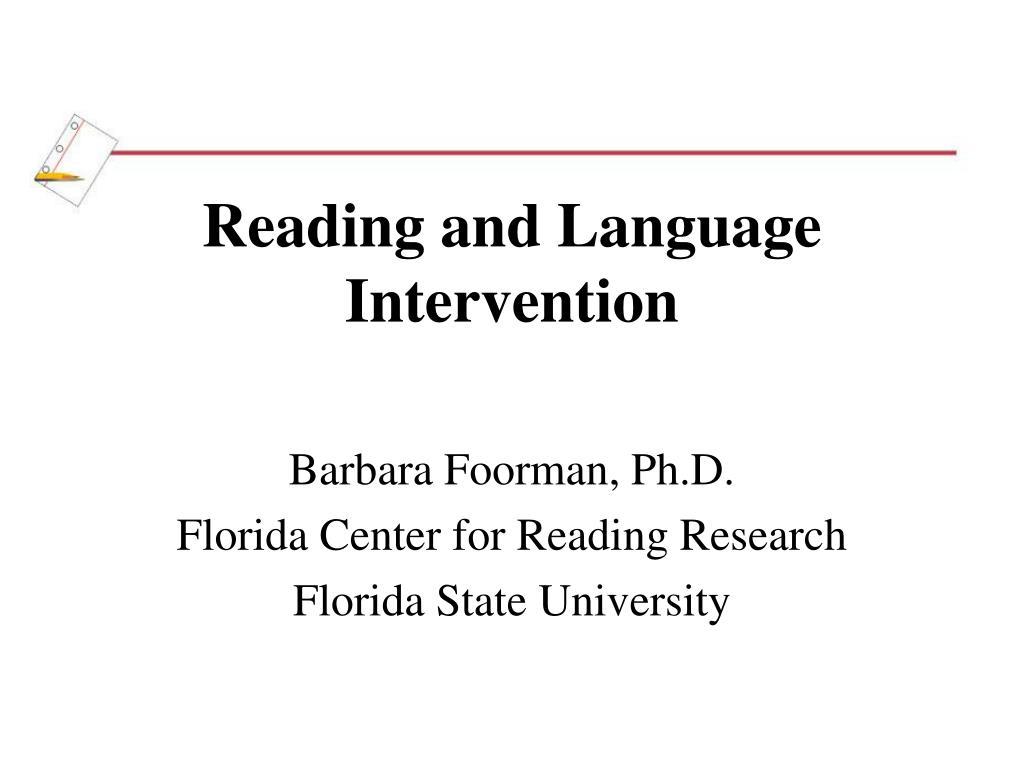 reading and language intervention l.