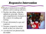 responsive intervention