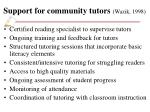 support for community tutors wazik 1998