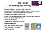 2001 2005 continuing the journey forward