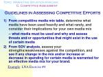 guidelines in assessing competitive efforts