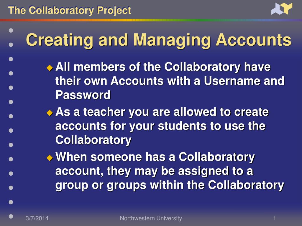 creating and managing accounts l.