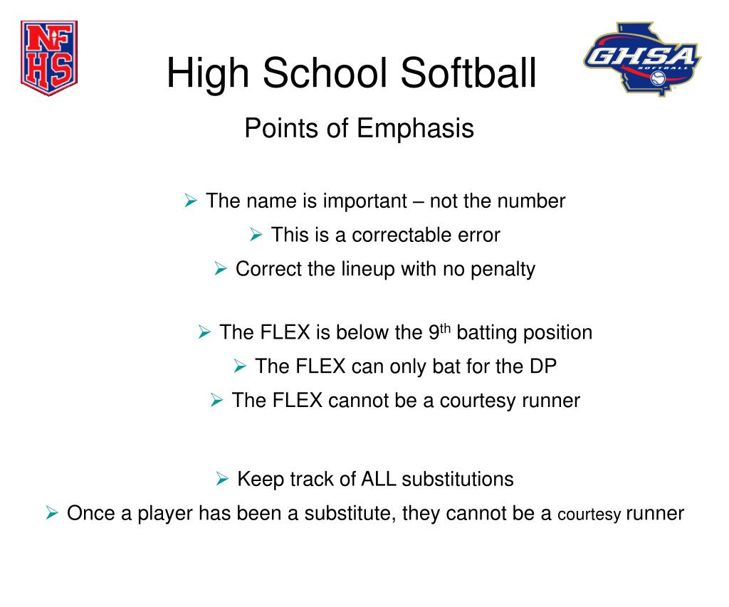 high school softball l.