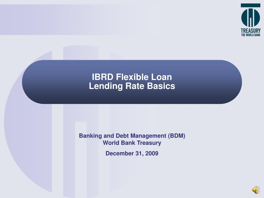 ibrd flexible loan lending rate basics l.