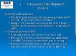 2 subsequent developments cont