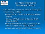 3 6 major infrastructure development cont