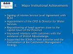 8 major institutional achievements