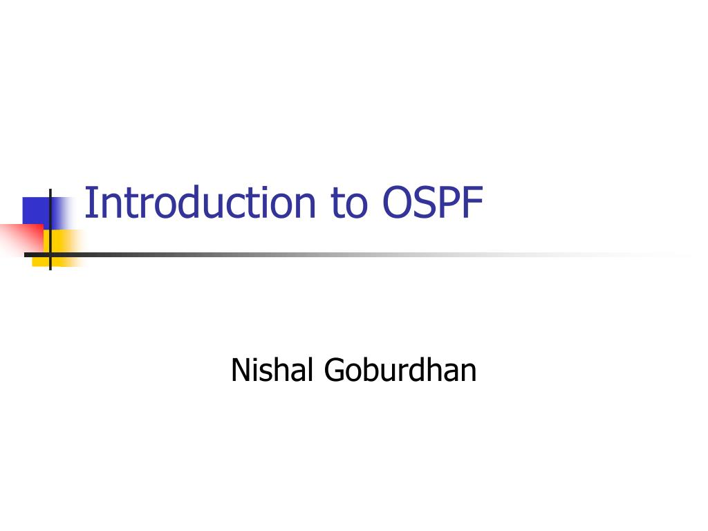 introduction to ospf l.