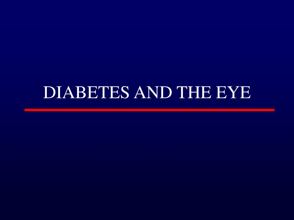 diabetes and the eye l.