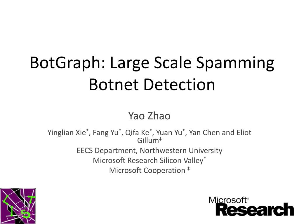 botgraph large scale spamming botnet detection l.