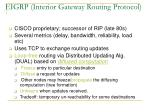 eigrp interior gateway routing protocol