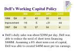 dell s working capital policy