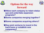 options for the way forward