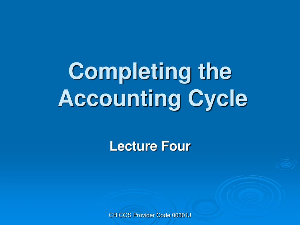 completing the accounting cycle l.
