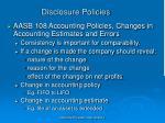disclosure policies
