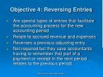 objective 4 reversing entries