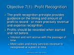 objective 7 1 profit recognition