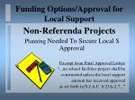 funding options approval for local support20