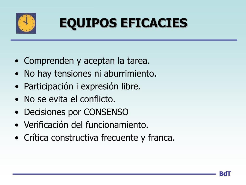 EQUIPOS EFICACIES